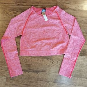 Victoria's Secret Pink Red Athletic Shirt XL NWT